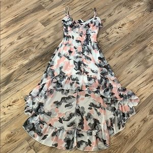 NWT HeartSoul Ivory and Pink High Low Dress XS